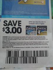 10 Coupons $3/1 Zantac 24ct+ Exp.11/2/19