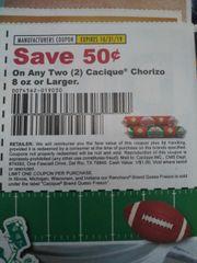 10 Coupons $.50/2 Cacique Chorizo 8oz+ Exp.10/31/19