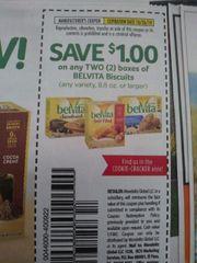 10 Coupons $1/2 Belvita Biscuits (8.8oz+) Exp.10/26/19