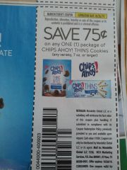 10 Coupons $.75/1 Chips Ahoy! Thins Cookies (7oz+) Exp.10/26/19