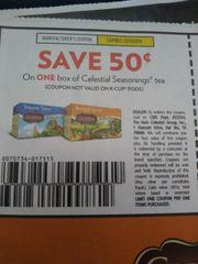10 Coupons $.50/1 Celestial Seasonings Tea Exp.12/15/19