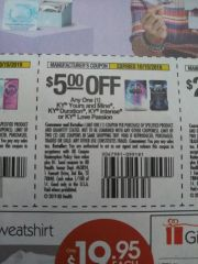 10 Coupons $5/1 KY Yours and Mine, KY Duration, KY Intense or KY Love Passion Exp.10/15/19