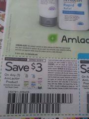 10 Coupons $3/1 AmLactin Product Exp.10/19/19