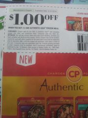 10 Coupons $1/1 Authentic Asia Frozen Meal Exp.12/31/19
