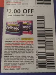 10 Coupons $2/1 Prilosec OTC Product Exp.10/26/19