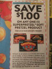 10 Coupons $1/1 Superpretzel Soft Product Exp.10/31/19