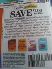 10 Coupons $1/2 Cheerios Cereals (SEE PIC) Exp.11/9/19