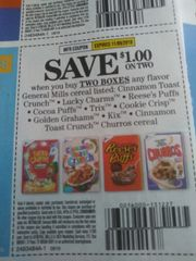 10 COupons $1/2 General Mills Cereals Listed (SEE PIC) Exp.11/9/19