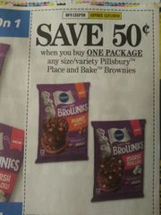 10 Coupons $.50./1 Pillsbury Place and Bake Brownies Exp.12/21/19