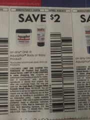 10 Coupons $2/1 Aquaphor Body or Baby Products (Excludes Lip Products) Exp.10/26/19