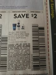 10 Coupons $2/1 Nivea Men Face or After Shave Product Or (2) Nivea Men Shave Products Exp.10/26/19