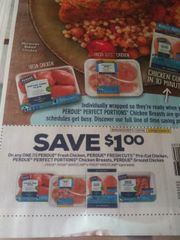 10 Coupons $1/1 Perdue Fresh Chicken, Perdue Fresh Cuts Pre-Cut chicken, Perdue Perfect Portions Chicken Breasts, Perdue Ground Chicken Exp.10/26/19
