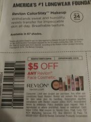 10 Coupons $5/1 Revlon Face Cosmetic Exp.11/2/19