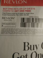 10 Coupons BOGO Revlon Lip or Eye Cosmetic (Up To $12.99) Exp.11/2/19