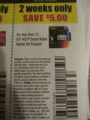 10 Coupons $5/1 Icy Hot Smart Relief Starter Kit Product Exp.10/19/19