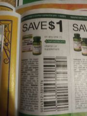 10 COupons $1/1 Nature's Bounty Vitamin or Supplement Exp.11/30/19