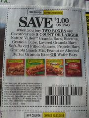10 Coupons $1/2 Nature Valley Granola (SEE PIC) Exp.12/7/19