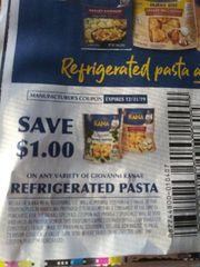 10 Coupons $1/1 Giovanni Rana Refrigerated Pasta exp.12/31/19