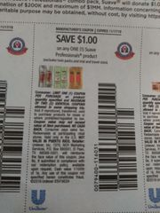 10 Coupons $1/1 Suave Professionals Product (Excludes Twin Packs and ets) Exp.11/17/19