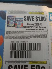 10 Coupons $1/2 Welch's Fruit Snacks (8oz+ Bag or 8ct Box) Exp.11/30/19