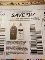 10 Coupons $1.50/1 Gold Bond Ultimate Lotion 13oz+ Exp.12/7/19