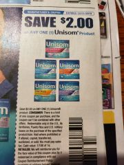 10 coupons $2/1 Unisom Product Exp.12/31/19