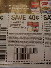 10 Coupons $.40/4 Campbell's Condensed soups Exp.1/3/20
