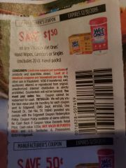 10 Coupons $1.50/2 Wet Ones Hand Wipes, Canisters or Singles (Excludes 20ct Travel) Exp.12/31/19