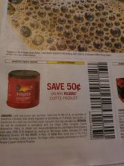 10 Coupons $.50/1 Folgers Coffee Product Exp.1/30/20