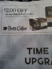 10 Coupons $2/1 Peet's Coffee (K-Cup Pack (10, 16, 32ct) or Bag (10, 12, 20oz) Exp.12/16/19