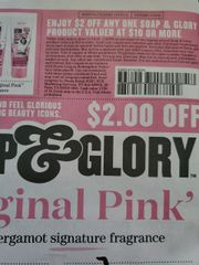 10 Coupons $2/1 Soap & Glory Product Valued At $10 or More Exp.1/10/20