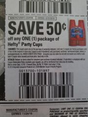 10 Coupons $.50/1 Hefty Party Cups Exp.12/31/19