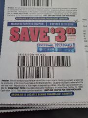 10 Coupons $3/1 Bronkaid Product 60ct. Exp.12/31/19
