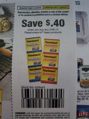 10 COupons $.40/1 Fleischmann's Yeast Product Exp.12/29/19