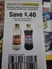 10 Coupons $.40/1 Karo Syrup Products Exp.12/29/19