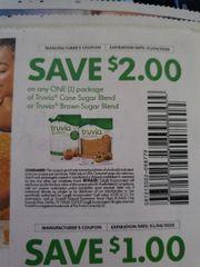 10 Coupons $2/1 Truvia Cane Sugar Blend or Truvia Brown Sugar Blend Exp.1/4/20