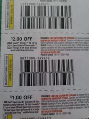 10 Coupons $2/1 Gain Flings 12ct to 26ct (Excluding Fireworks, Gain Flings 9ct and Below) Exp.12/7/19