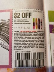 10 Coupons $2/1 Maybelline New York Mascara Product Exp.12/14/19