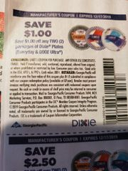 10 Coupons $1/2 Dixie Plates (Everyday & Dixie Ultra) Exp.12/17/19