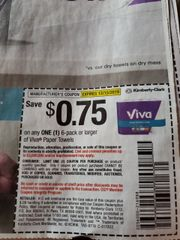 10 Coupons $.75/1 Viva Paper Towels 6-Pack+ Exp.12/15/19