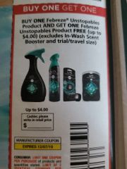 10 Coupons BOGO Febreze Unstopables Product (Up To $4) (Excludes In-Wash Scent Booster and etS) Exp.12/7/19