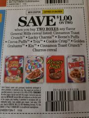 10 Coupons $1/2 General Mills Cereals (SEE PIC) Exp.1/4/20