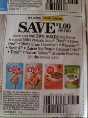 10 Coupons $1/2 General Mills Cereals (SEE PIC) Exp.1/4/20s