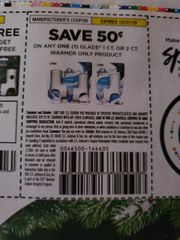 10 Coupons $.50/1 Glade 1ct or 2ct Warmer Only Product Exp.12/31/19