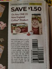 10 Coupons $1.50/1 New England Coffee Product Exp.1/20/20