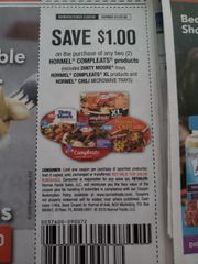 10 Coupons $1/2 Hormel Compleats Products (Includes Dinty Moore trays, Hormel Compleats XL Products and Hormel Chili Microwave Trays) Exp.1/27/20