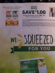10 Coupons $1/2 Florida Natural NFC Orange Juice 52 Fl Oz. Exp.2/8/20