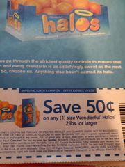 10 Coupons $.50/1 Wonderful Halos 2lbs+ Exp.1/15/20