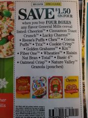 10 Coupons $1.50/4 General Mills Cereal Listed (SEE PIC) Exp.1/25/20
