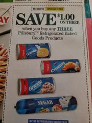10 COupons $1/3 Pillsbury Refrigerated Baked Goods Products Exp.3/7/20